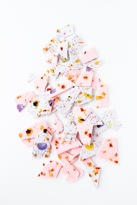 colorblocked-chocolate-bark-pink-purple-broken-into-pieces